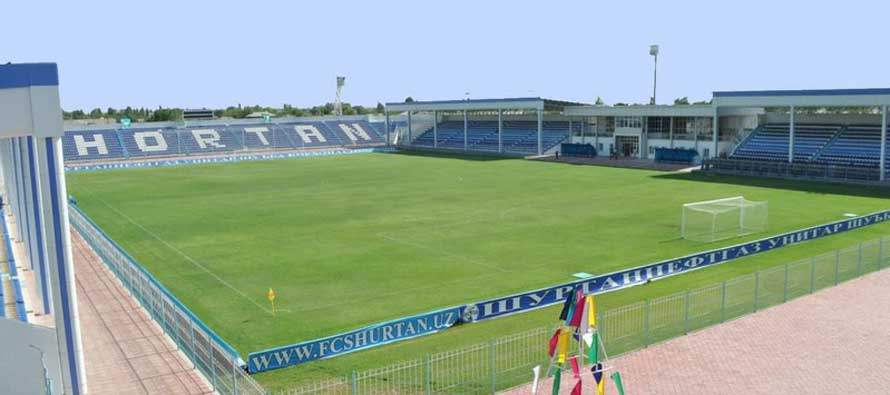 The pitch at Guzor Stadium