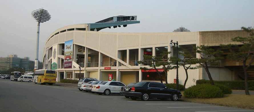 Exterior of Gwangyang's main stand