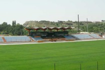 Main stand of Gyumri City Stadium