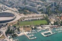 Aerial view of Poljud stadion