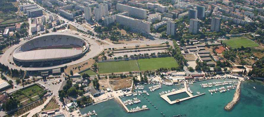 Aerial view of Poljud stadion