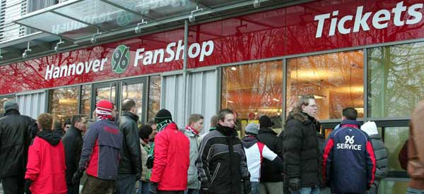 Exterior of Hannover 96 fan shop