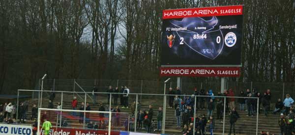 Harboe Arena scoreboard