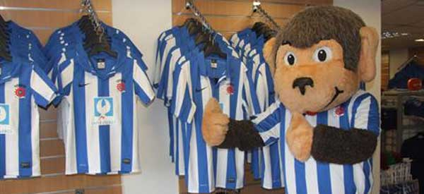 Hartlepool Mascot inside club shop