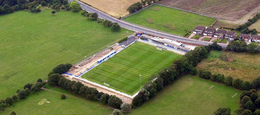 Aerial view of Hartsdown park