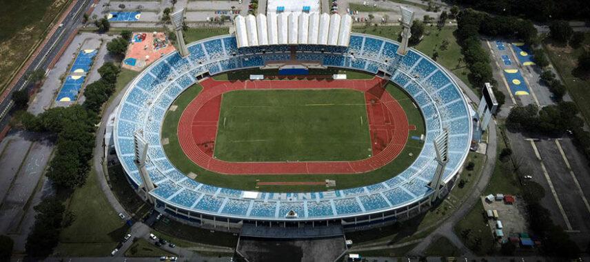 Aerial view of Brunei's national stadium