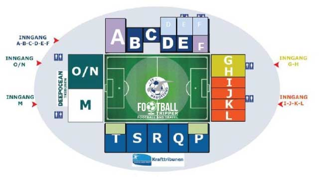 Haugesund Stadion seating map
