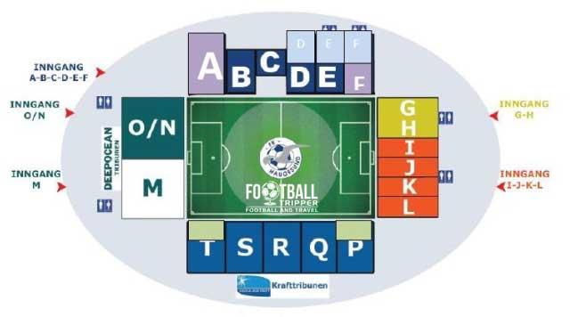 Haugesund Stadion seating map