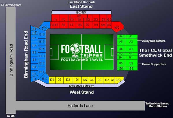 Hawthorns Stadium Seating Plan
