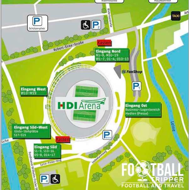 HDI Arena stadium map