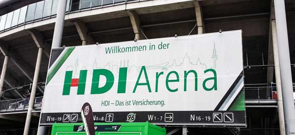 HDI Arena Welcome Sign