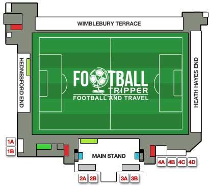 Stadium map of Keys Park