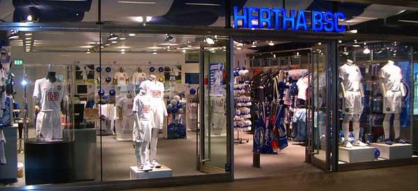 Exterior of Hertha Berlin club shop