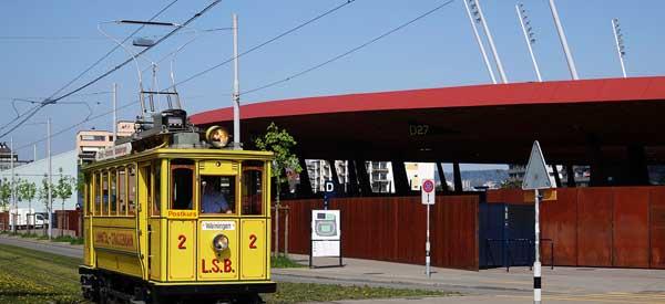 Letzigrund Stadion tram