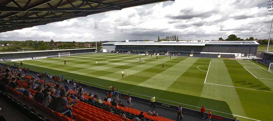 The pitch at Hive Stadium