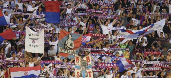 HNK Hajduk Split supporters inside the stadium