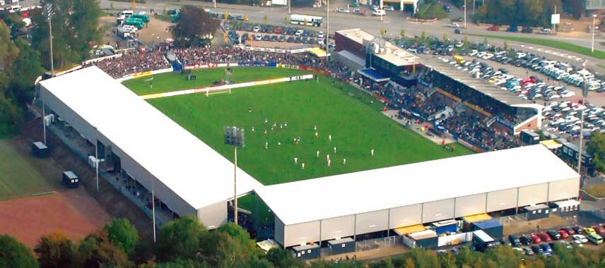 Aerial view of Holstein-Stadion