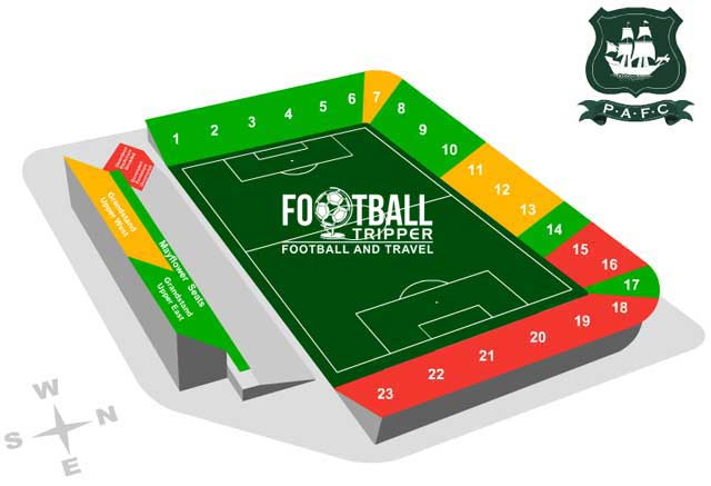 Plymouth Argyle Home Park Seating Plan