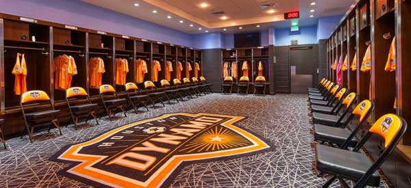 A sneak peak inside Houston Dynamo's locker room, you will see plenty more on the tour including the tunnel and pitchside.