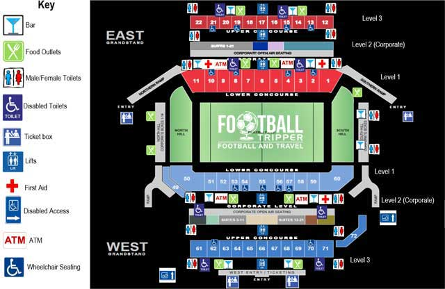 Hunter Stadium Seating Plan