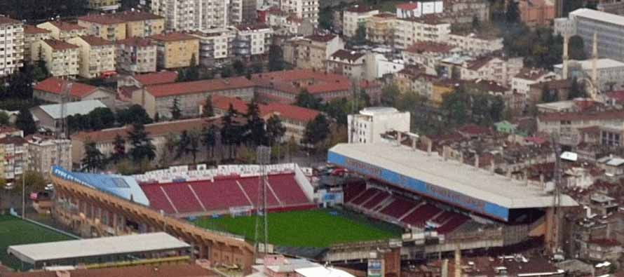 Aerial view of Huseyin Avni Aker Stadium
