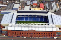 aerial view of ibrox stadium