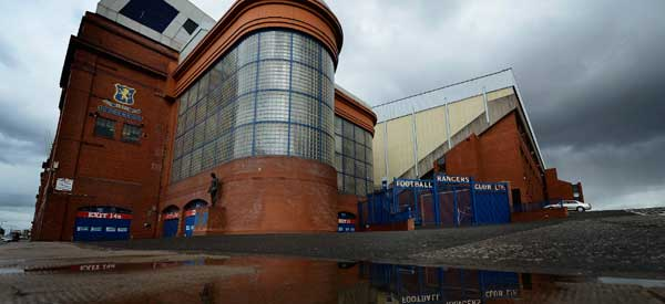 A picture of the iconic architecture at Ibrox.