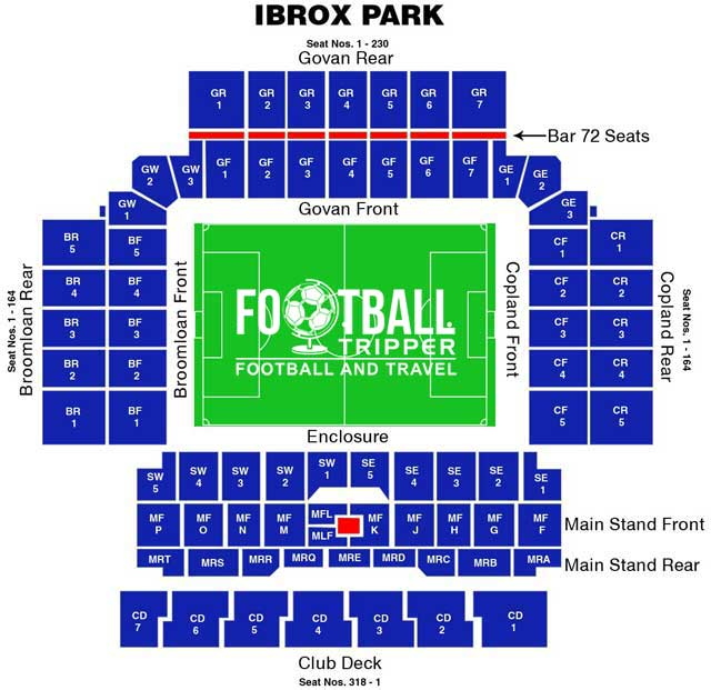 Ibrox Seating Plan, Glasgow Rangers F.C.