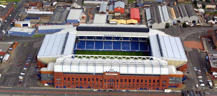 aerial view of ibrox stadium