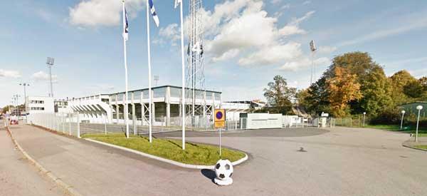 Exterior of Nya Parken Stadium