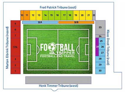IJsseldelta Stadion seating map