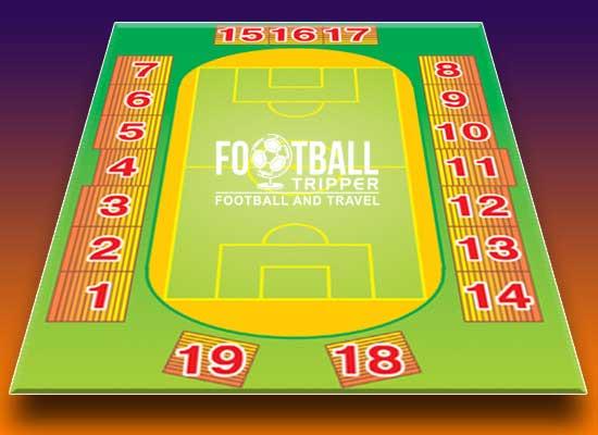 Seating chart of Illichivets stadium