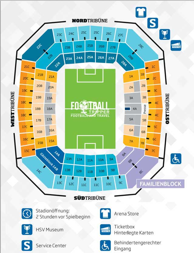 Imtech Hamburg Arena Seating Plan