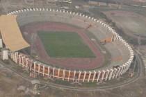 Aerial view of Indira Gandhi Stadium