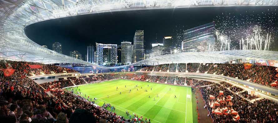 Inside design for Miami MLS stadium