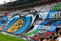 Inter supporters inside the stadium