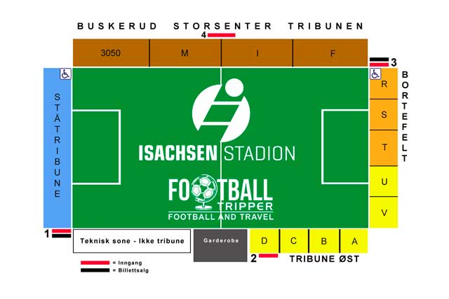 Isachsen Stadion seating chart