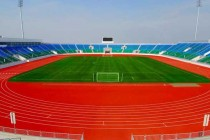 A view of the empty Istiqlol Stadium