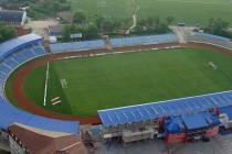 Aerial view of Jagodina City Stadium