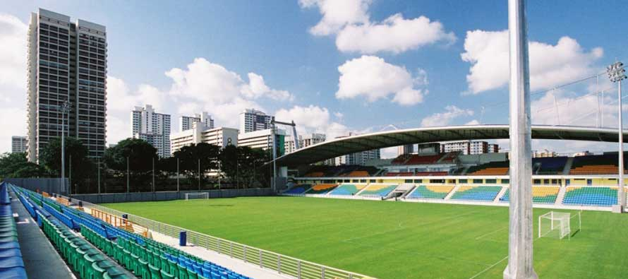 Inside an empty Jalan Besar Stadium