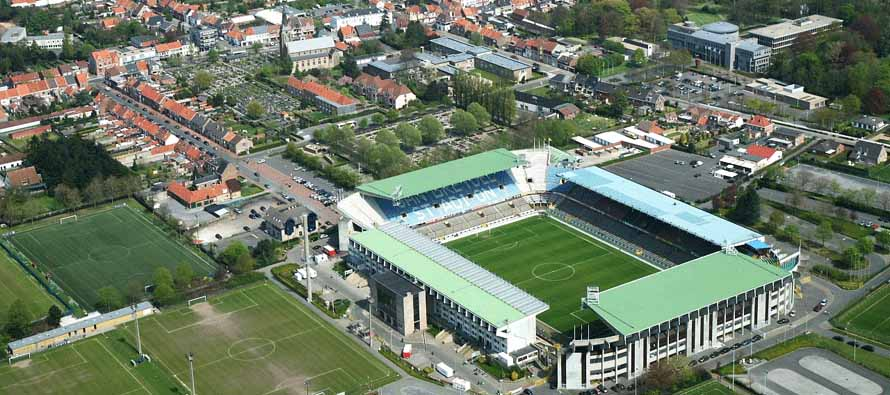 Aerial view of Jan Breydel Stadion