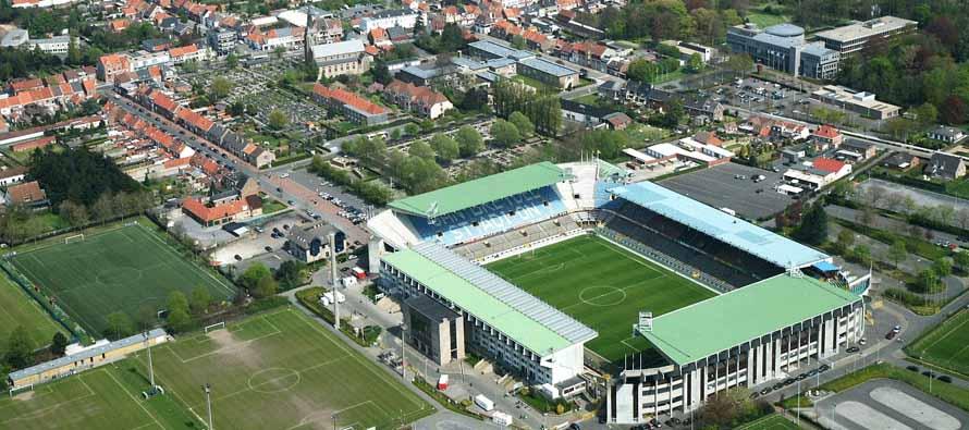 Aerial view of Jan Breydel Stadion