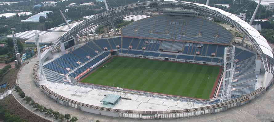 Aerial View of Jeju World Cup Stadium