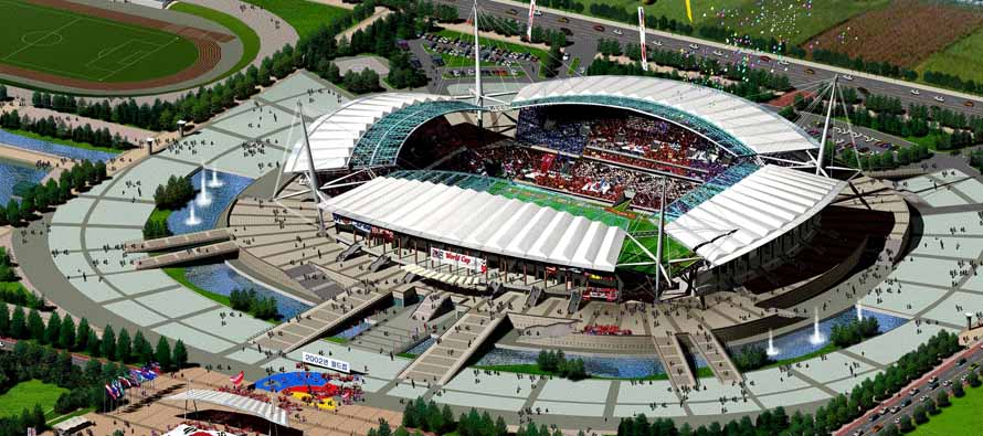 Aerial View of Jeonju World Cup Stadium