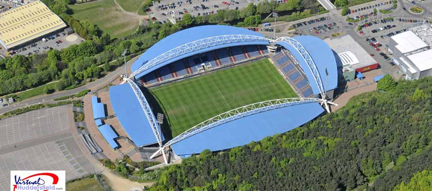 Aerial View of John Smiths Stadium