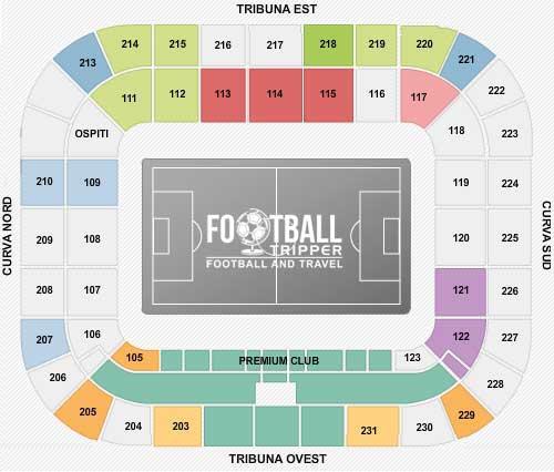juventus arena Seating Plan