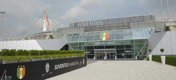 Main reception of Juventus Stadium.