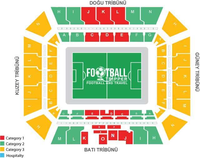 Hüseyin Avni Aker Stadium map