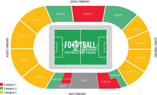 Kamil Ocak Stadium seating chart