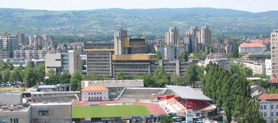Aerial view of Karadorde Stadium